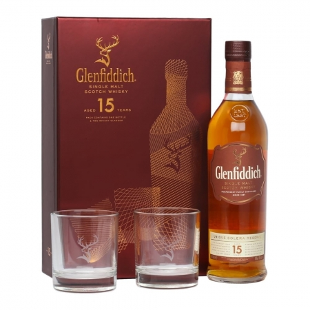 Glenfiddich 15 Year Old Gift Set *70CL