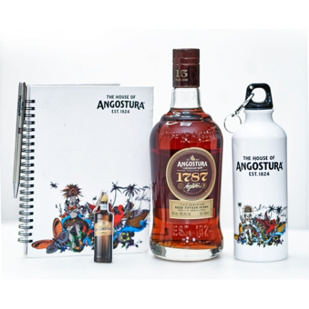Angostura 1787 with Branded Jotter, Pen, Key Ring, Water Bottle *70CL