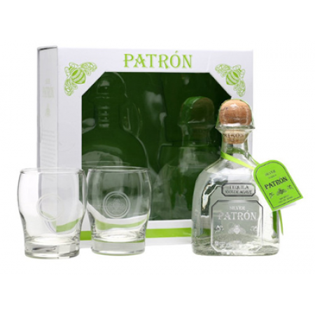 Patron Silver With 2 Glasses *75CL